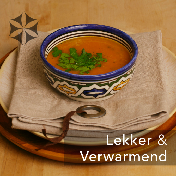 VERWARMEND: GEMBER & WORTELSOEP